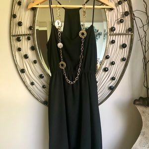 Forever 21 black halter high/low dress. Small EUC